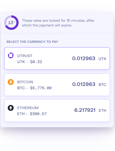 Utrust Wallet